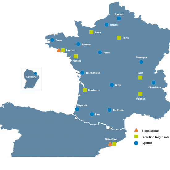 Carte des agences version FR