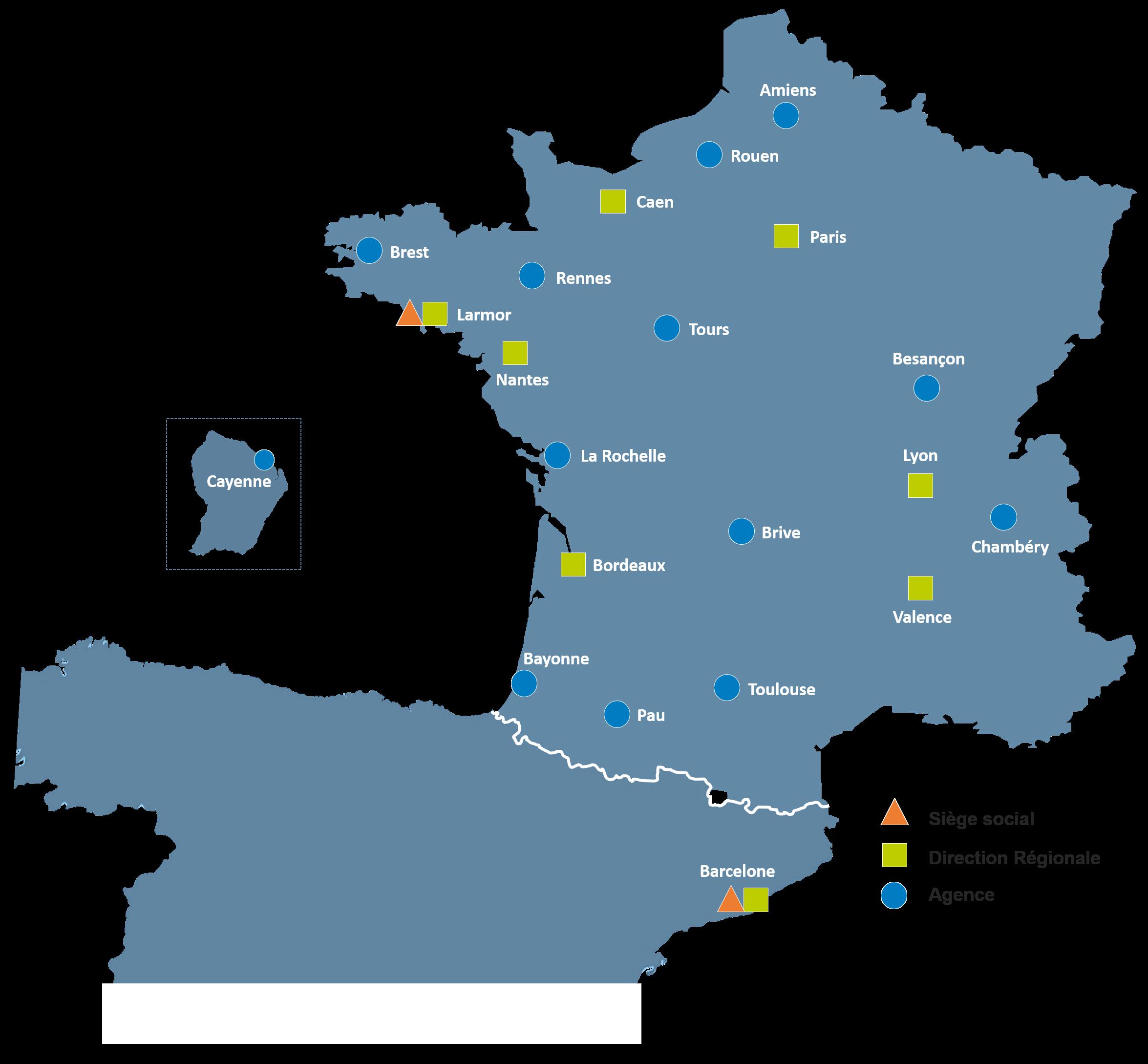 Carte des agences version FR
