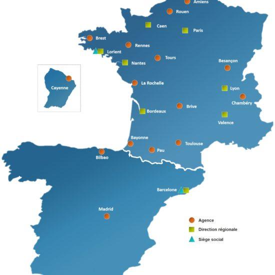 Carte FR à jour